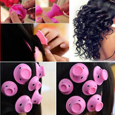 30pcs Silicone Spiral Ringlets Hair Curlers Magic Soft Rollers Hair Care No Heat