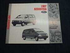 Ford Aerostar 1987 Wiring diagram Electrical manual Schaltpläne Handbuch