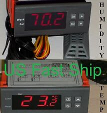Humidity & Temperature Controller for Hydroponic Grow Closet Hydro Cabinet Room