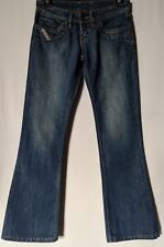 "WOMEN'S JEANS DIESEL BOOTCUT COTTON MADE IN ITALY SIZE 12 LEG 33"" FREE POSTAGE"