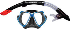 Mirage Adult Pacific Mask and Snorkel Set - black silicone