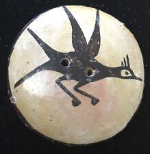 Vintage Zia Pottery Roadrunner Button