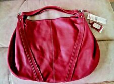 Nine West Red Hobo Purse Shoulder Large Bag Womens Accessories Bags Tote Zip