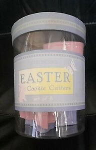 WILLIAMS-SONOMA METAL EASTER COOKIE CUTTERS SET OF 8 - NEW