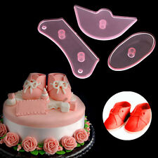 3x Baby Shoes Birthday DIY Cake Decorating Mold Cutter Fondant Sugarcraft Tool