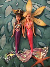 Disney Mattel Little Mermaid Tropical Splash Attina Arista Dolls Vintage 1997