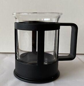 Bodum Bistro Glass Coffee Mug Cup Retro Black 10.5cm TallReplacement