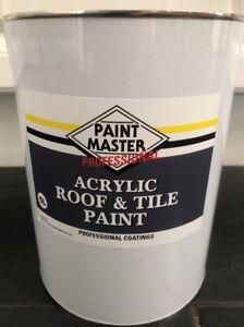 HEAVY DUTY GREY Acrylic Roof And Tile Paint X 5lt CHEAPEST ON EBAY