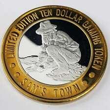 New Listing1999 S Sam's Town Hotel Casino .999 Silver Strike $10 Gold Panner Token 5St9913