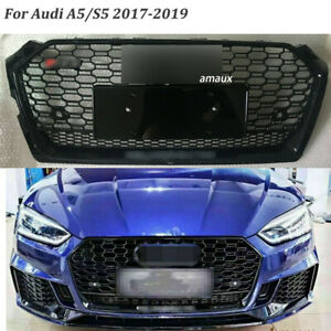 FOR AUDI A5 S5 2017-2020 FRONT BUMPER GRILLE HONEYCOMB HOOD GRILL RS5 STYLE