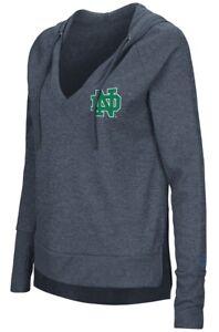 "Notre Dame Fighting Irish Women's NCAA ""Never Doubt"" V-neck Hooded Shirt"