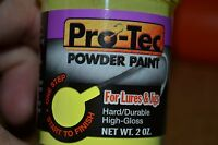 PROTEC POWDER PAINT 2OZ JAR JIG PAINT LURE PAINT PRO TEC POWDER PAINT GLOW & REG