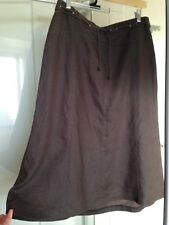 sportscraft skirt 12 pure linen as new condition.Kahki Green colour.