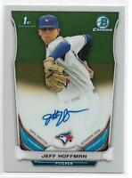 2014 Bowman Chrome Draft Jeff Hoffman On-Card Auto Rockies Rookie RC First Year