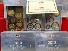 Lot of 4 SETS 2010 US MINT Proof Sets With Boxes and COA