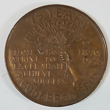 Vtg Gudebrod Bros. 75 Year Anniversary Bronze Medal Surgeons Silk Sutures 1945