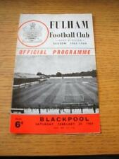 29/02/1964 Fulham v Blackpool  (Creased, Folded & Team Changes). No obvious faul