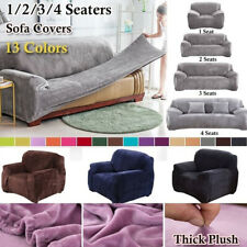 Universal Thicken Stretch Elastic Sofa Seater Cover Plush Velvet Slipcover Couch