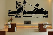 Wall Room Decor Art Vinyl Sticker Mural Decal Golf Sport Game Club Ball FI024