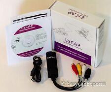 EzCAP DC60+ v3.1C USB 2.0 VIDEO CAPTURE CARD, XP/Vista/Win7/8 - HD VIDEO TO YT