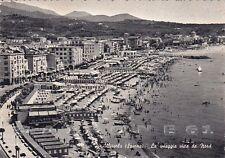SAVONA ALBISSOLA 50 SPIAGGIA BAGNI Cartolina viaggiata 1960