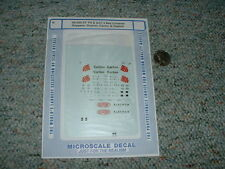 Microscale decals N 60-355 54' PS ACF 4 bay hoppers Dupont Carlon A78