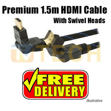 Premium 1.5m HDMI Cable (w/ Swivel Heads) PS3 XBOX Blueray 3D V1.4