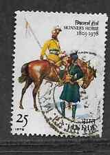 INDIA POSTAL ISSUE - QE1I ERA - 1978 - USED STAMP 175TH ANNIV SKINNERS HORSE