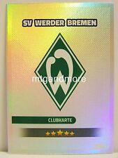 Match Attax 2016/17 Bundesliga - #327 SV Werder Bremen - Clubkarte / Wappen
