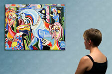 """55""""- PICASSO LEGEND____________________ORIGINAL PAINTING oil on canvas by IOV !!"""