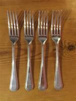 4 x Vintage Osbourne Silver plated EPNS Beaded Design Table Forks A1 19.5cm