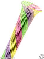 "1meter - Techflex PTN0.50SB 1/2"" (0.5"") Flexo PET Wire Sleeving - Sherbert"
