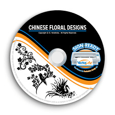 CHINESE FLORAL CLIPART IMAGES -VECTOR CLIP ART -VINYL CUTTER PLOTTER GRAPHICS CD