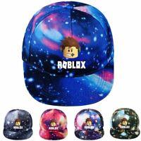 Men Women 3D Roblox Print Baseball Trucker Hat Adjustable Snapback Hip Hop Cap