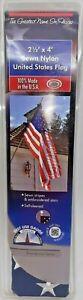 VALLEY FORGE 60650-T FLAG 2-1/2X4 US NYLON
