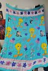 Looney Tunes Bugs Bunny Comforter Twin to Full Size 1996 Vintage Bedding Blanket