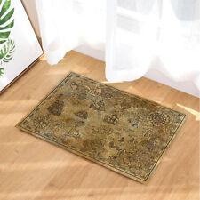 "Pirate Treasure Map Fantasy Rug Carpet Bedroom Bathroom Mat Doormat 16x24"""