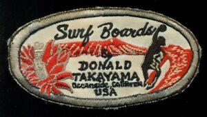 Donald Takayama Surfboards Surf California Patch CT4