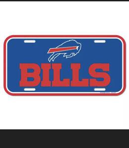 Buffalo Bills Plastic License Plate (NEW) NFL Tag Auto Car Truck Frame