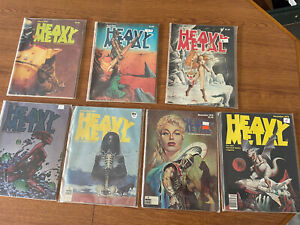 Heavy Metal Magazine 1978 (7) Issues Mar Apr, June, July, Sept, Nov Dec