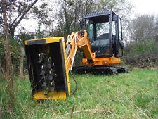 New Ghedini mini excavator flail head digger hedge cutter / mower
