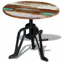New Solid Reclaimed Wood Side Table Height Adjustable Coffee End Table