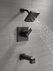 Delta Ara T14467-BL Matte Black Monitor 14 Series Tub & Shower Faucet