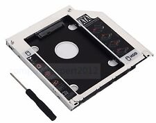 2nd HDD SSD SATA Hard Drive Caddy Adapter for MacBook Pro Unibody SuperDrive DVD