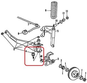 Lower Ball Joint - Genuine Ford E3TZ-3050-A 84-92 Ranger 2wd, 91-94 Explorer 2wd