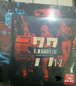 "LIGABUE-""77 SETTANTASETTE SINGOLI""-2 LP ROSSI +BOX-VINILE SIGILLATO ED.LIMITATA."