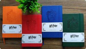 Harry Potter Notizbuch A5 Innentasche Ravenclaw Slytherin Hufflepuff Gryffindor
