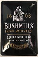Bushmills Irisch Whisky Label Geprägte Stahl Zeichen 300mm x 200mm (Sg)