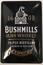 Bushmills Irish Whiskey Label embossed steel sign  300mm x 200mm (sg)