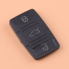 Rubber 3 Button Remote Key Pad Shell Fit VW Skoda Octavia Seat Leon